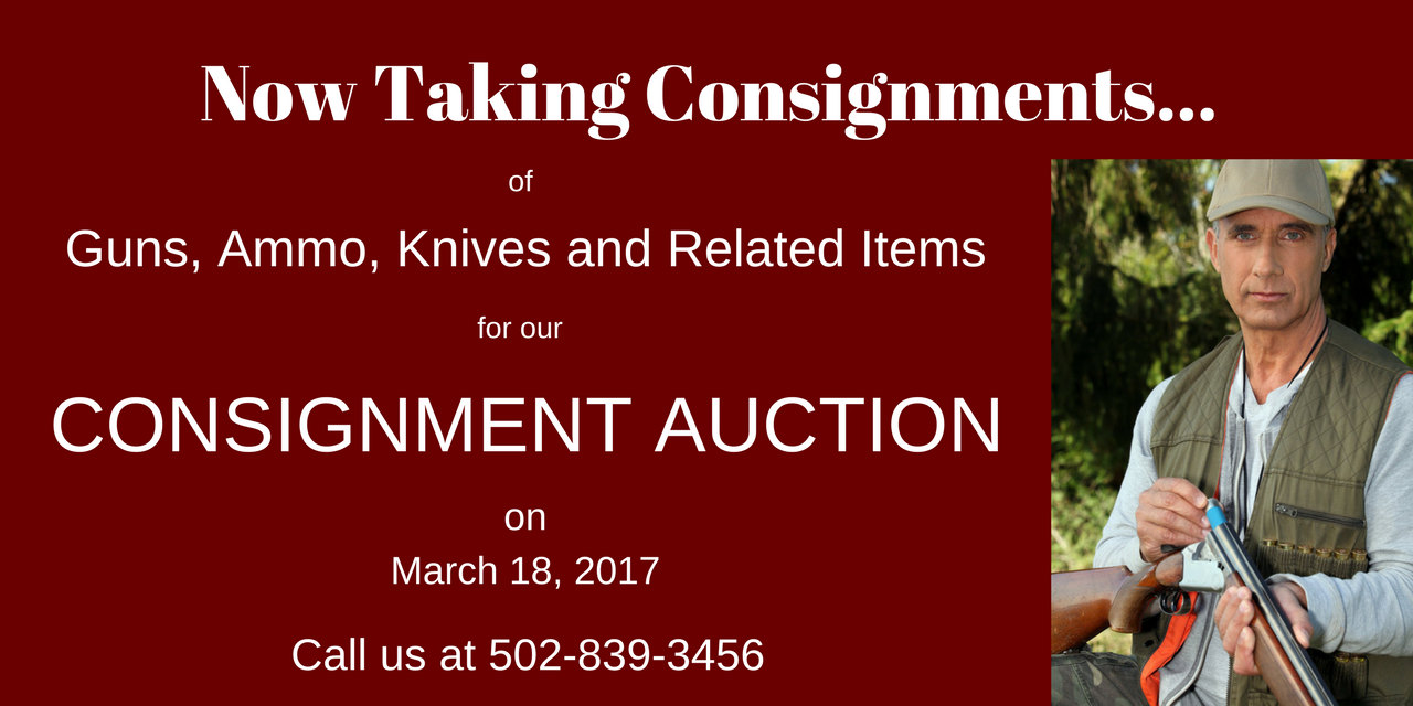 Now Taking Consignments…