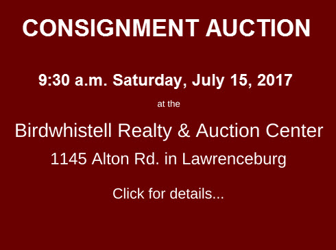 Consignment Auction July 15 2017